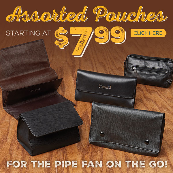 All your favorite pipe pouches available here!