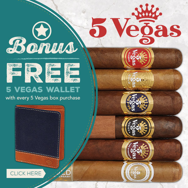 Purchase any 5 Vegas Box and Get a Free Wallet!