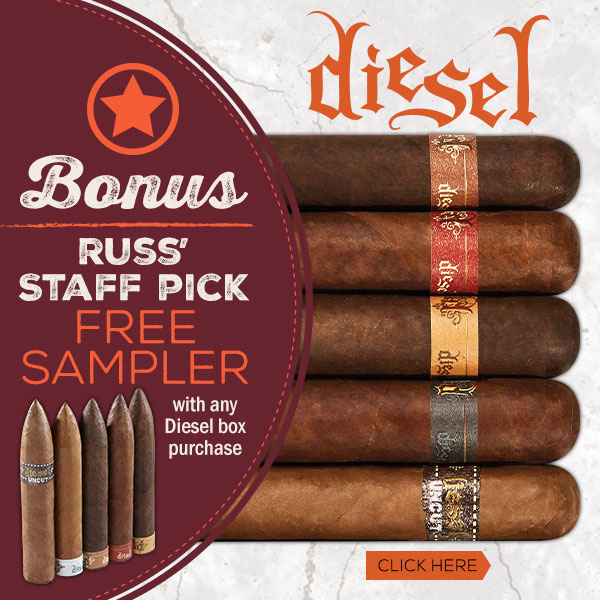 Free Cigar Sampler with Diesel box purchase!