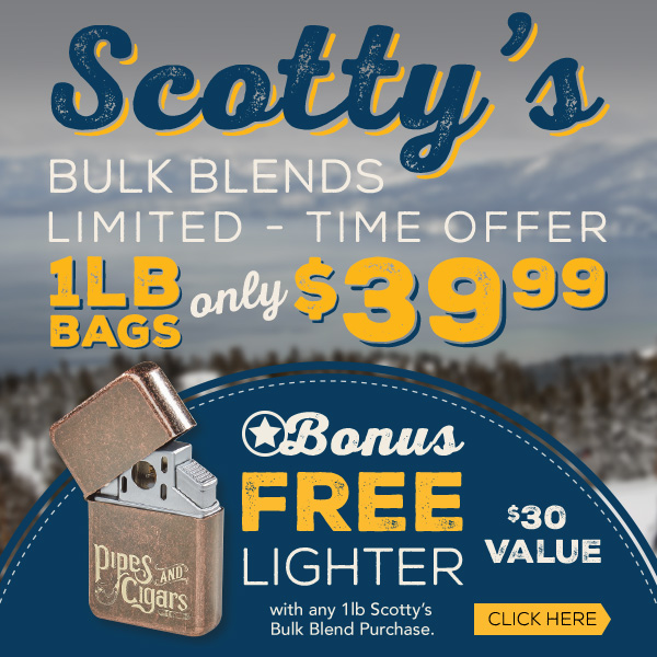 Scotty's 1lb bag only $39.99 plus Free Lighter!
