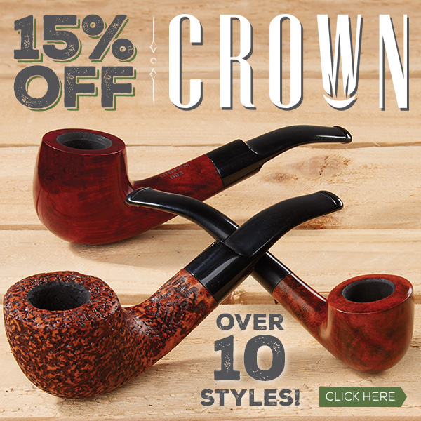 15% off Crown Pipes!