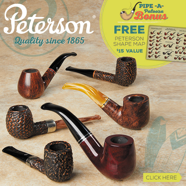 Peterson Pipes Plus a Free Shape Mat