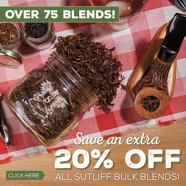 Save 20% off all Sutliff Bulks