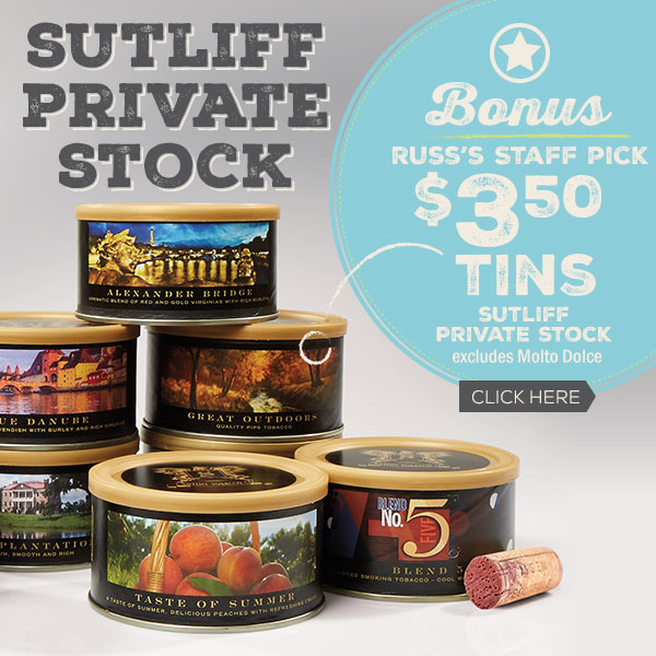 $3.50 Tins of Sutliff Private Stock