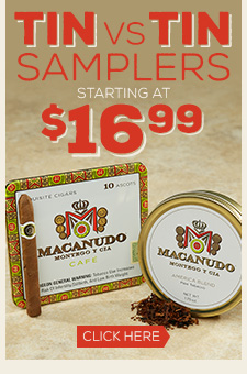 Tin Vs. Tin Samplers Starting at $16.99!