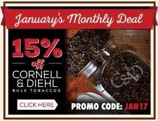 January Monthly Deal - Cornell & Diehl Bulk 15% OFF