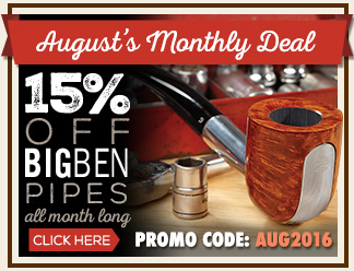 August Monthly Deal - 15% Off Big Ben Pipes