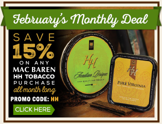 February Monthly Deal - 15% OFF Mac Baren HH