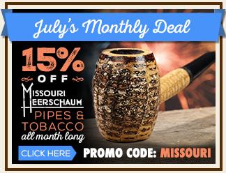 July Monthly Deal - 15% Off Missouri Meerschaum