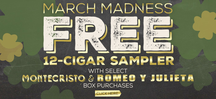 Purchase select Montecristo & Romeo y Julieta boxes and receive 12 Free cigars!