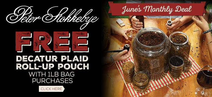 Free Roll Up Pouch with Every Peter Stokkebye 1lb Bag Purchase!