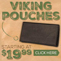 Protect your pipe and tobacco with a Viking Pouch!
