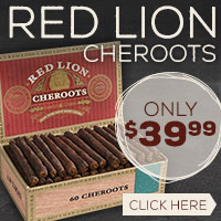 Red Lion Cheroots Only $39.99!