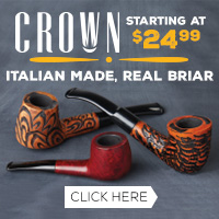 Italian Made Crown Pipes starting at $24.99!