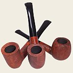Baraccini Light Brown Line Carved Pipes