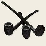 Savinelli Churchwarden Black Pipes