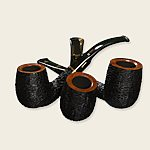 Savinelli Oscar Tiger Rustic Pipes