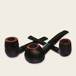 Stanwell Brushed Black Pipes
