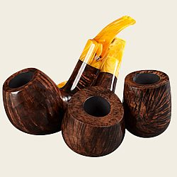 Stanwell Shorty Dark Brown Smooth Pipes