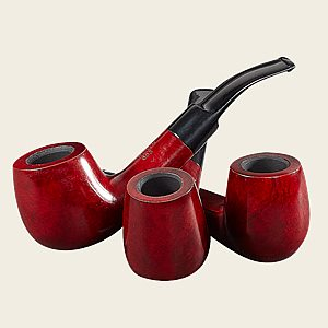 Crown Manola Red Polish Pipes