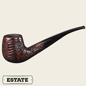 Unbranded Rusticated Bent Brandy Estate Pipes