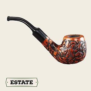 Crown Rustic Bent Egg Estate Pipes
