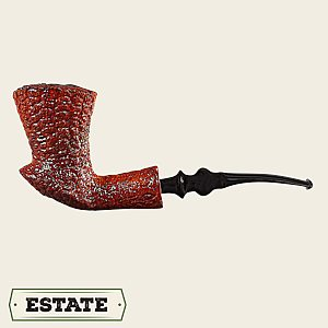 Rusticated Italian Bent Freehand Dublin Estate Pipes