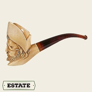 Meerschaum Bent Pirate Figural Estate Pipes