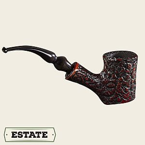 Rusticated Poker Estate Pipes
