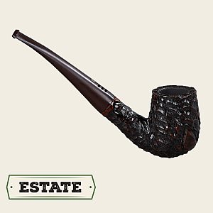 EA Carey Rustic Bent Billiard  Estate Pipe