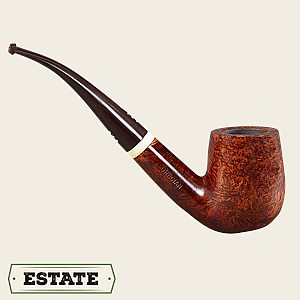 Carey Magic Inch Smooth Bent Billiard Estate Pipes