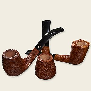 Luciano Tan Sandblasted Pipes