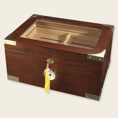 Milano Glass Top Display Humidor Cigar Accesories