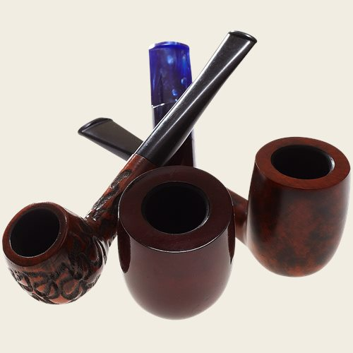 Real Briar Straight Pipes - Pipes and Cigars