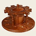 9 Rotating Pipe Stand w/ Tobacco Jar