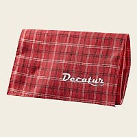 Decatur Plaid Roll-Up Pouch - Red  Medium