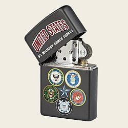 Zippo Lighter - U.S. Military Armed Forces