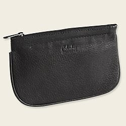 Zip Oval Tobacco Pouch - Black
