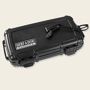 Herf-a-Dor Black Travel Humidors Travel Cases